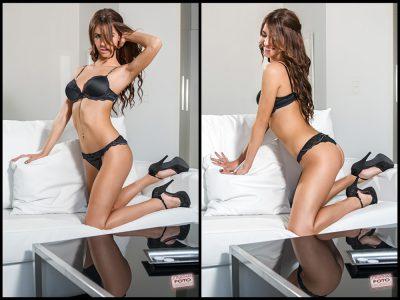 Book de fotos Natalia en hotel tipo boudoir fotografo Valencia Jonathanfoto
