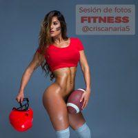 @criscanaria5 Cristina Gilabert Sesión de fotos sexy fitness con jonathanfoto
