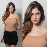 Composicion con las fotos de Mari tipo test agencia de modelos
