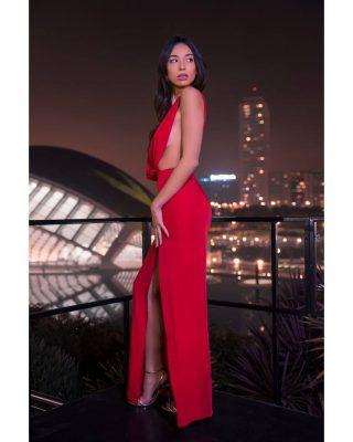 Fotografía nocturna con modelos en Valencia. Bonitas fotos con bokeh