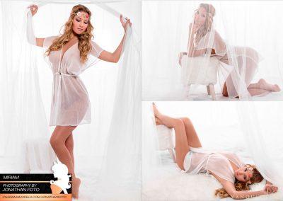 Bonias fotos de Miriam desnuda solo con camison blanco transparente